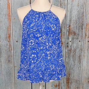 Lilly Pulitzer Millie Halter Top in Bay Blue sz M